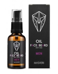 MASVERI Olejek do twarzy i brody Anti-Age 30ml