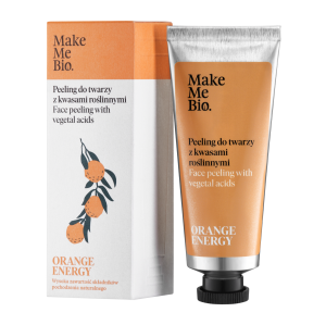 Make Me Bio Orange Energy - peeling do twarzy z kwasami roślinnymi 40ml