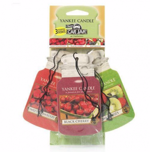 YANKEE CANDLE Car Jar Variety Pack FRUIT A LICIOUS (Sweet Strawberry, Black Cherry, Kiwi Berries) - zestaw 3 szt.