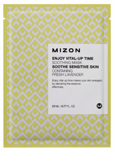 MIZON Wygładzająca maska do twarzy z LAWENDĄ - Enjoy Vital-Up Time Soothing Mask 23ml
