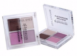 BENECOS Poczwórna paleta cieni do powiek QUATTRO Beautiful Eyes 7,2g BDIH
