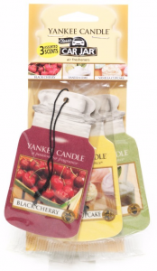 YANKEE CANDLE Car Jar Variety Pack AFTERNOON PICNIC (Black Cherry + Vanilla Lime + Vanilla Cupcake) - zestaw 3 szt.