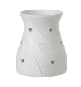 YANKEE CANDLE Kominek do wosków WHITE HEARTS 1 sztuka