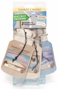 YANKEE CANDLE Car Jar Variety Pack SEACOAST HIGHWAY (Coconut Bay + Ocean Water + Sun & Sand) - zestaw 3 szt.